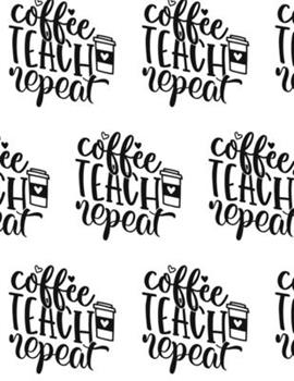 Paperback Coffee, Teach, Repeat Composition Notebook - Large Ruled Notebook - 8.5x11 Lined Notebook (Softcover Journal / Notebook / Diary) Book