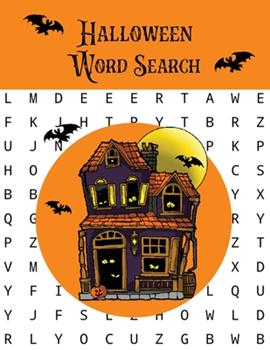 Paperback Halloween Word Search: Puzzles Activity Book, Fun For Kids & Adults, Puzzle Activities Gift, With Solutions Pages Book