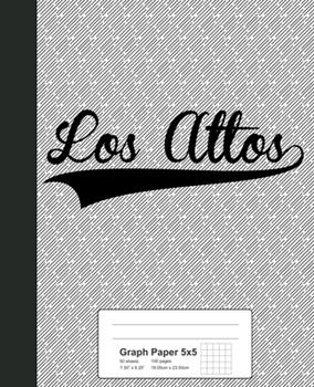 Paperback Graph Paper 5x5 : LOS ALTOS Notebook Book