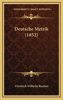 Hardcover Deutsche Metrik Book