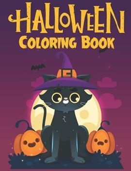 Paperback Halloween Coloring Book: Halloween coloring books for kids ages 3-4-5-6-7-8-9-10. Kids Halloween craft Book