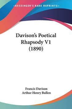 Paperback Davison's Poetical Rhapsody V1 (1890) Book