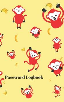 Paperback Password Logbook : Monkey Internet Password Keeper with Alphabetical Tabs - Pocket Size 5 X 8 Inches (vol. 3) Book