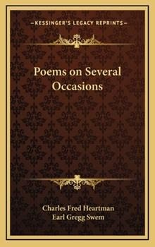 Hardcover Poems on Several Occasions Book