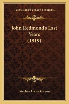 Paperback John Redmond's Last Years Book