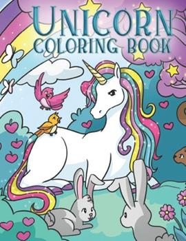 Paperback Unicorn coloring book: For kids Book