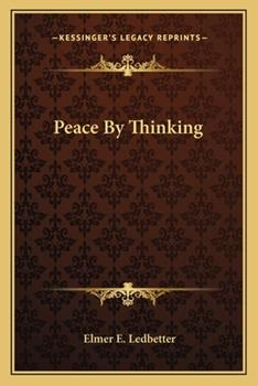 Paperback Peace by Thinking Book