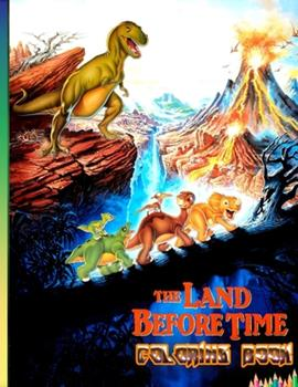 Paperback the land before time coloring book: Cute coloring book,Great Coloring Book for Kids and Fans, 25 Awesome Illustrations for Kids Book
