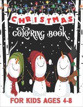 Paperback Christmas Coloring Book For Kids: 54 Pages Simple Relaxing Design for Kids Of Ages 4-8 Enjoy to Color Santa, Stocking And Much More Book