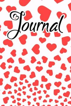 Paperback Journal : Journal for Women to Write in Orange Red Falling Hearts Book