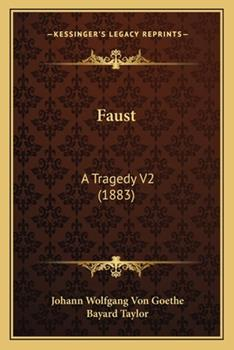Paperback Faust: A Tragedy V2 (1883) Book