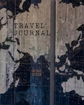 Paperback Travel Journal : Rustic World Map Cover Book