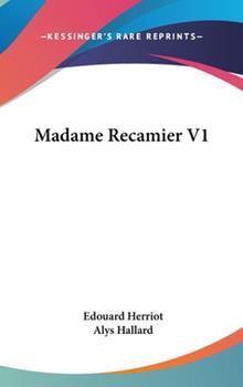 Hardcover Madame Recamier V1 Book