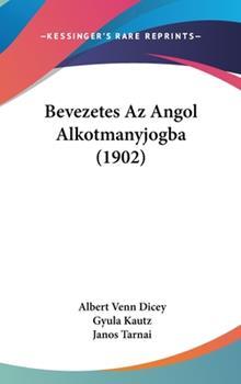 Hardcover Bevezetes Az Angol Alkotmanyjogba Book
