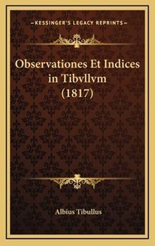 Hardcover Observationes et Indices in Tibvllvm Book