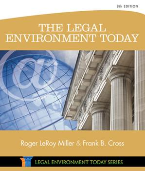 The Legal Environment Today 1111530610 Book Cover