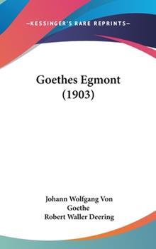 Hardcover Goethes Egmont Book