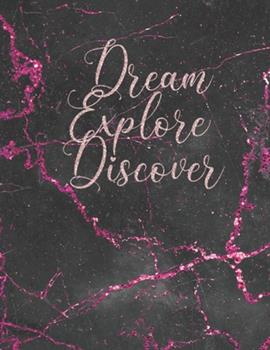 Paperback Dream Explore Discover : Planner 2020 Pink and Black Marble Weekly and Monthly Planner Large 8. 5 X 11 - Weekly Agenda January 2020 to December 2020 - Calendar Schedule Organizer Book
