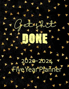 Paperback 2020-2024 Five Year Planner : Monthly Organizer and Five Year Planner Gifts - Gold Leaf Book