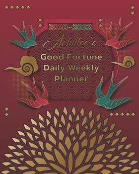 Paperback 2020-2022 Achilles's Good Fortune Daily Weekly Planner : A Personalized Lucky Three Year Planner with Motivational Quotes Book