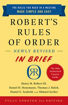 Paperback Robert's Rules of Order Newly Revised in Brief, 3rd Edition Book