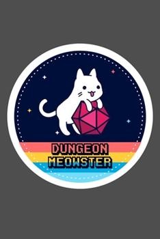 Paperback Dungeon Meowster DnD Notebook Journal 100 Lined Pages Matte Book