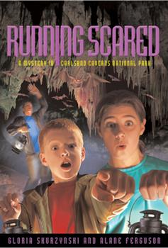 Mysteries in Our National Parks: Running Scared: A Mystery in Carlsbad Caverns National Park 0792269489 Book Cover