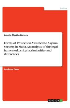 Paperback Forms of Protection Awarded to Asylum Seekers in Malta. An analysis of the legal framework, criteria, similarities and differences Book