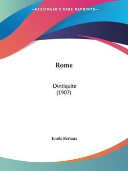 Paperback Rome : L'Antiquite (1907) Book