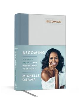 Hardcover Becoming: A Guided Journal for Discovering Your Voice Book