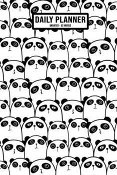Paperback Kawaii Panda Undated Daily Planner : Undated Daily, Weekly & Monthly Planner / Appointment Calendar - 52 Weeks - 6 X 9 Book