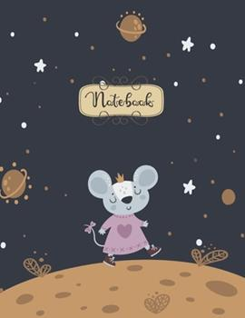 Paperback Notebook : Cute Rat Space Notebook for Kids and Lined Pages, Extra Large (8. 5 X 11) Inches, 110 Pages, White Paper Book