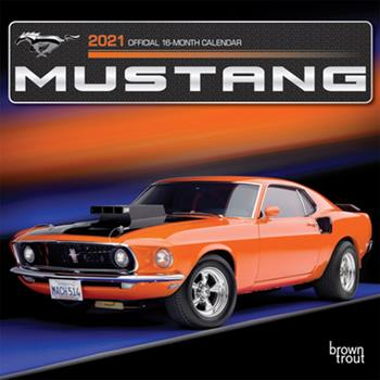 Calendar Mustang 2021 Mini 7x7 Foil Book