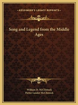 Hardcover Song and Legend from the Middle Ages Book