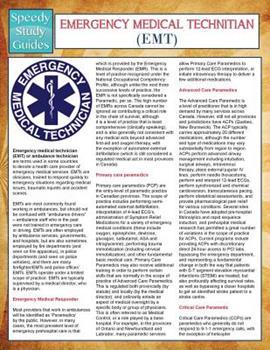 Paperback EMT- Emergency Medical Technician (Speedy Study Guides) Book