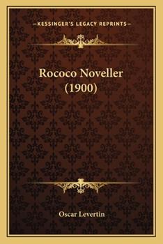 Paperback Rococo Noveller (1900) Book