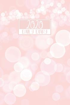 Paperback 2020 Daily Diary : A5 Day on a Page to View Full DO1P Planner Lined Writing Journal - Pink Bokeh Lights Design Book