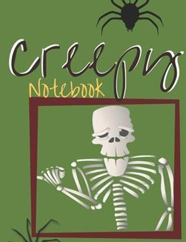 Paperback Creepy Notebook : Composition Book with Halloween Theme, Notes for School, Journal Gift for Diary Creative Writing (volume 6) Book