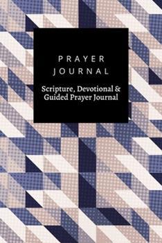 Paperback Prayer Journal, Scripture, Devotional & Guided Prayer Journal: Scandinavian Style Blue Purple Tones design, Prayer Journal Gift, 6x9, Soft Cover, Matte Finish Book
