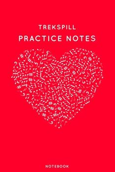 Paperback Trekspill Practice Notes : Red Heart Shaped Musical Notes Dancing Notebook for Serious Dance Lovers - 6 X9 100 Pages Journal Book