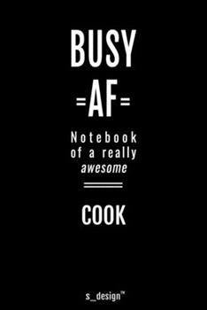 Paperback Notebook for Cooks / Cook : Awesome Handy Note Book [120 Blank Lined Ruled Pages] Book