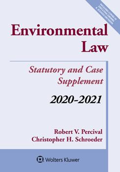 Paperback Environmental Law: Statutory and Case Supplement: 2020-2021 Book