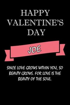 Paperback Happy Valentine's Day Joe Quote : Composition Notebook: Valentine's Day Gift for an Happy Valentine Day Gratitude Your Lover Book