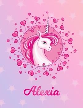 Paperback Alexia : Alexia Magical Unicorn Horse Large Blank Pre-K Primary Draw & Write Storybook Paper - Personalized Letter a Initial Custom First Name Cover - Story Book Drawing Writing Practice for Little Girl - Use Imagination, Create Tales, Be Creative Book