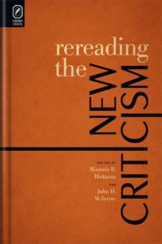 Hardcover Rereading the New Criticism Book