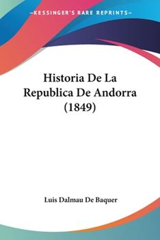 Paperback Historia de la Republica de Andorra Book
