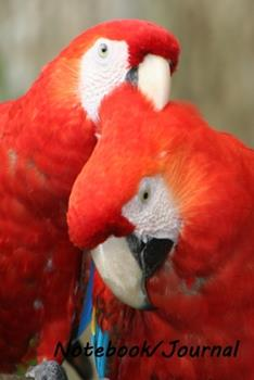 Paperback Notebook/Journal : Scarlet Macaw #1 - Wildlife and Inspirational Notebook/Journal - 128 Lined Pages in a 6x9 Inch Softcover Notebook Book
