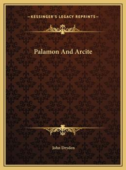 Hardcover Palamon and Arcite Book