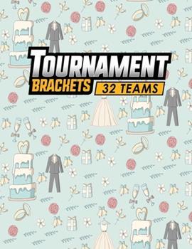 Paperback Tournament Brackets - 32 Teams Book