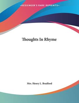 Paperback Thoughts in Rhyme Book